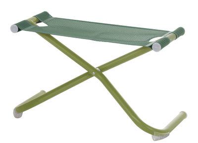 Image of Pouf Snooze - / Poggiapiedi di Emu - Verde - Metallo/Tessuto