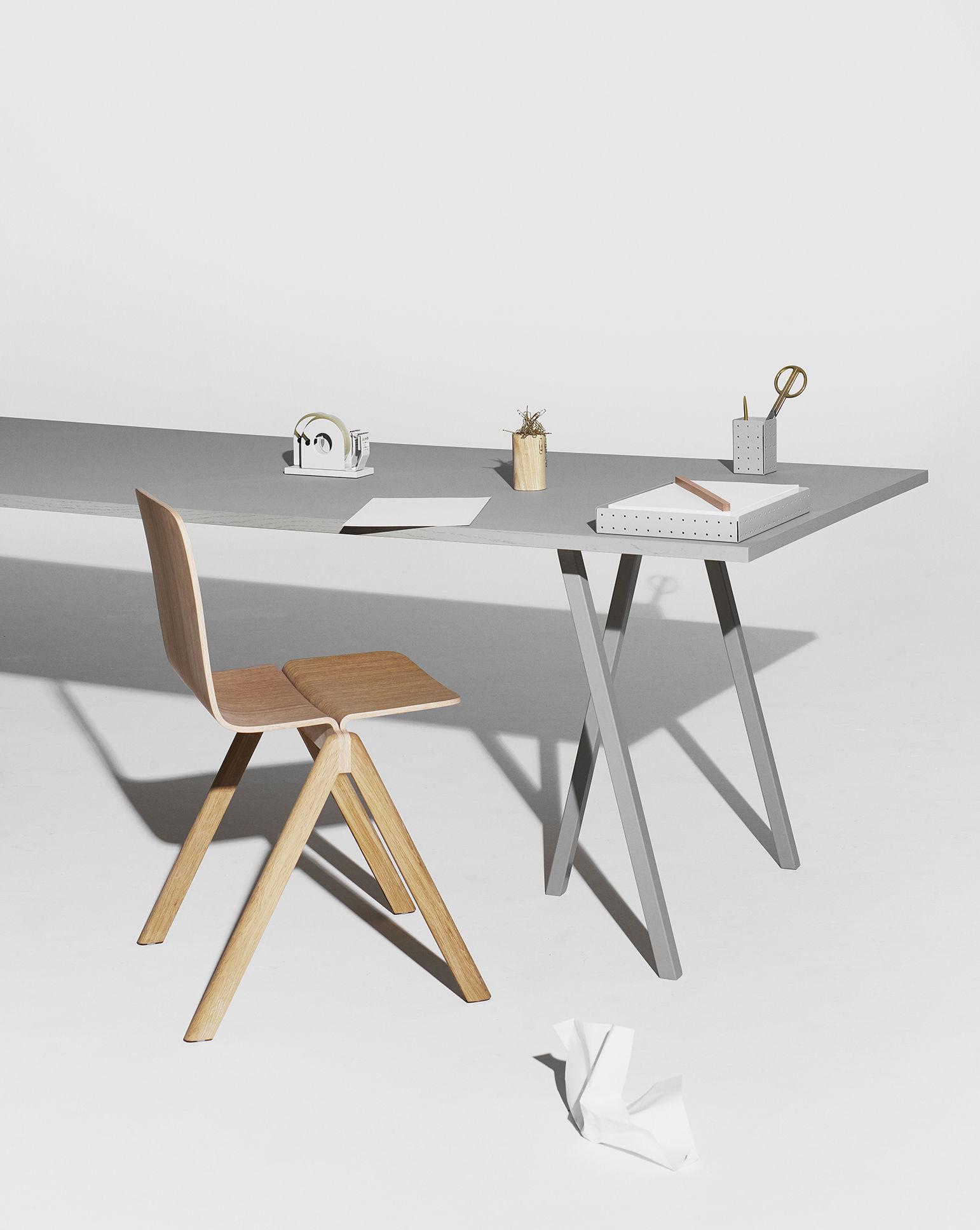 rechteckiger tisch loop von hay grau made in design. Black Bedroom Furniture Sets. Home Design Ideas