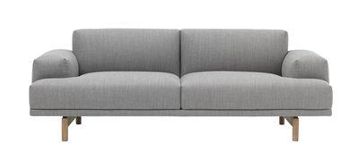 Compose Sofa / L 200 cm - Muuto - Hellgrau,Holz natur