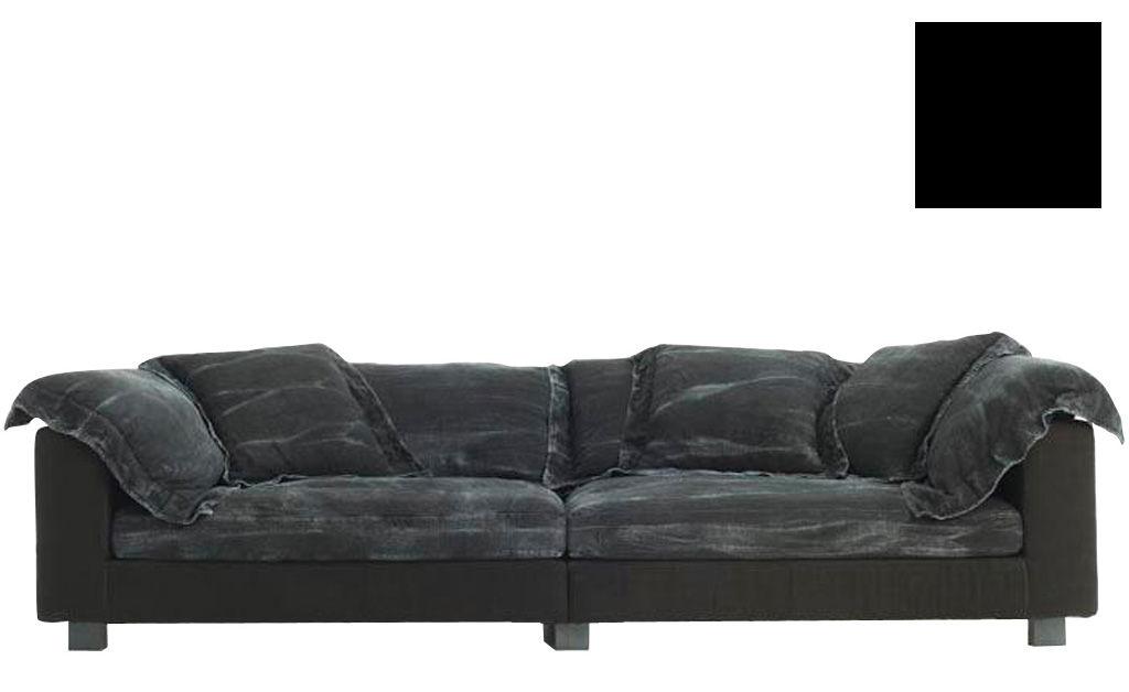 Möbel - Sofas - Nebula Nine Sofa L 280 cm x T 140 cm - Diesel with Moroso - Schwarz - Sitzfläche: Tiefe 140 cm - getönte Esche, Leinen, Polyurethan-Schaum