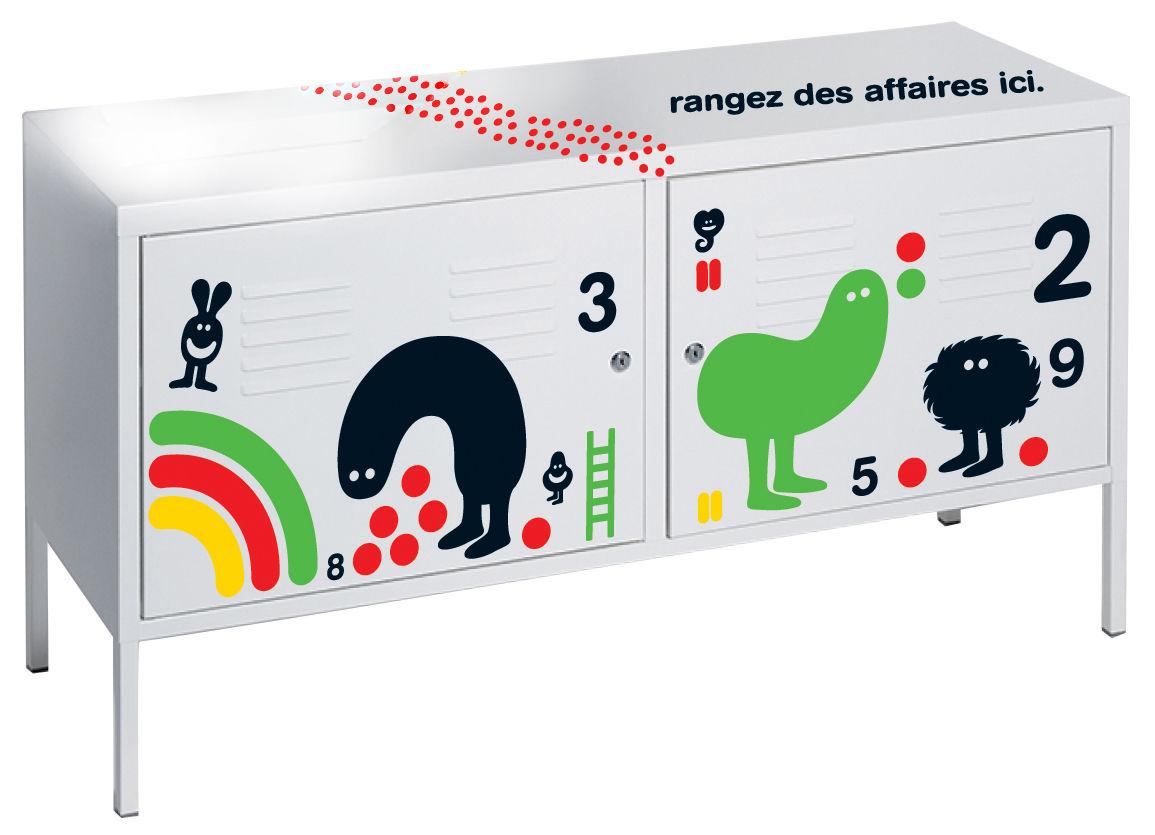Déco - Stickers, papiers peints & posters - Sticker de meuble Par Geneviève Gauckler / Pour commode - Domestic - Noir / Par Geneviève Gauckler - Vinyle
