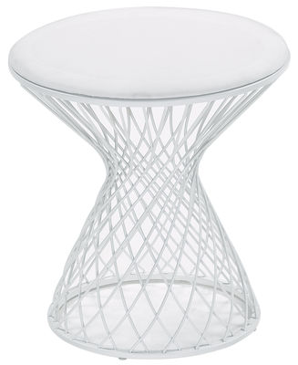 Furniture - Stools - Heaven Stool by Emu - Matt white - Acrylic fabric, Steel