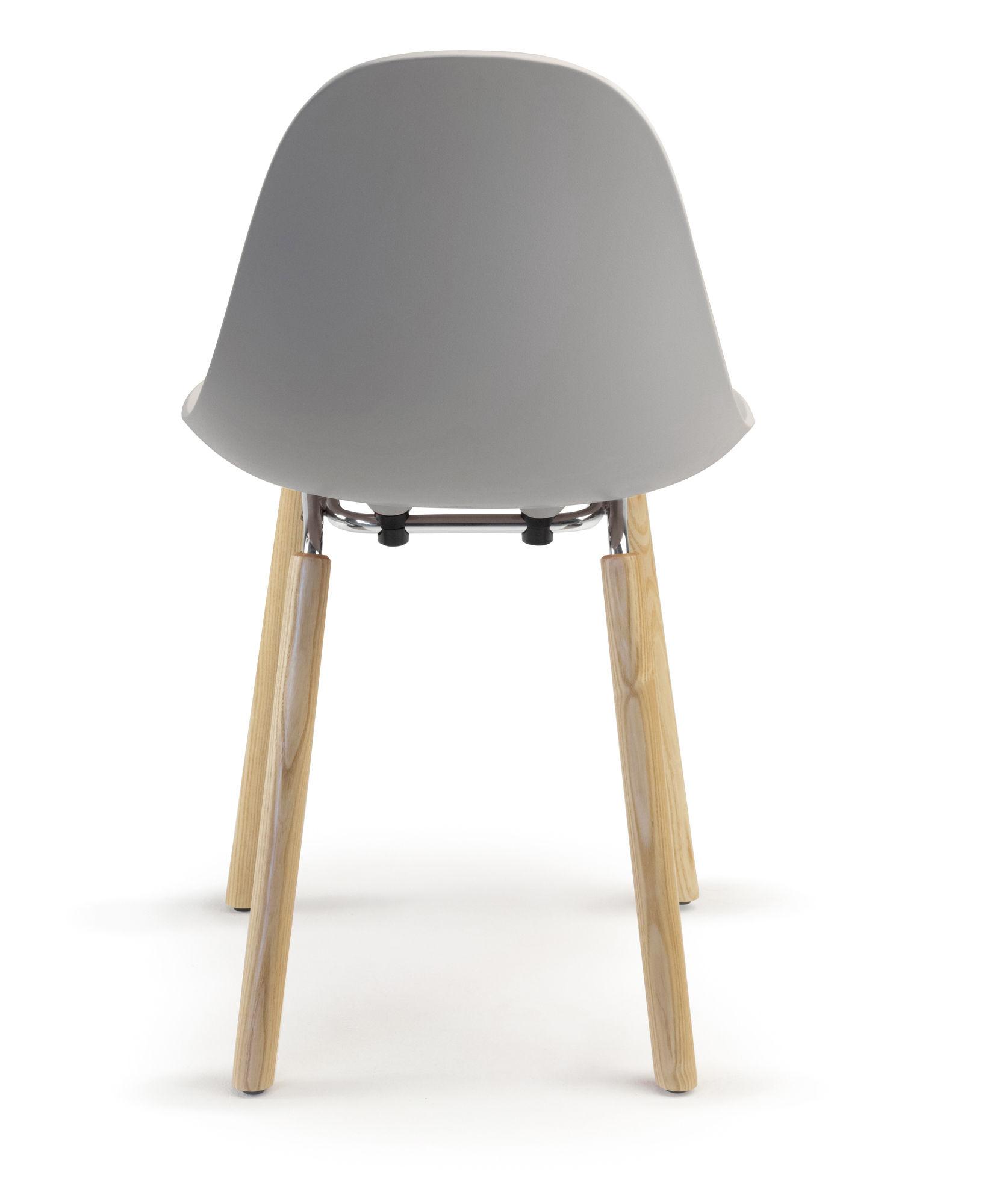 Stuhl TA von Toou Grau Holz natur