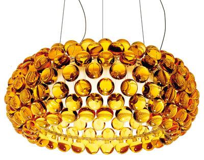 Luminaire - Suspensions - Suspension Caboche Media / Ø 50 cm - Foscarini - Ambre - PMMA