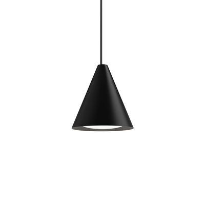 Luminaire - Suspensions - Suspension Keglen LED / Ø 25 cm - Aluminium - Louis Poulsen - Noir - Aluminium