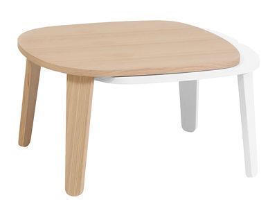 Mobilier - Tables basses - Table basse Colette / Longueur ajustable - Hartô - Chêne / Extension blanche - Chêne, MDF