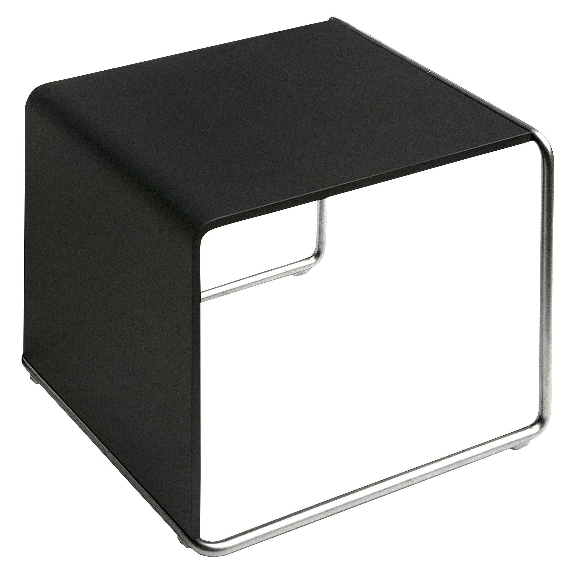 Mobilier - Tables basses - Table d'appoint Ueno / Bois - Lapalma - Noir pore ouvert - Acier inoxydable sablé, Chêne
