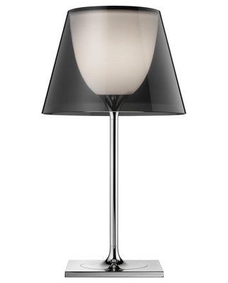 Lighting - Table Lamps - K Tribe T1 Table lamp - H 56 cm by Flos - Smokey - Chromed metal, PMMA, Polycarbonate