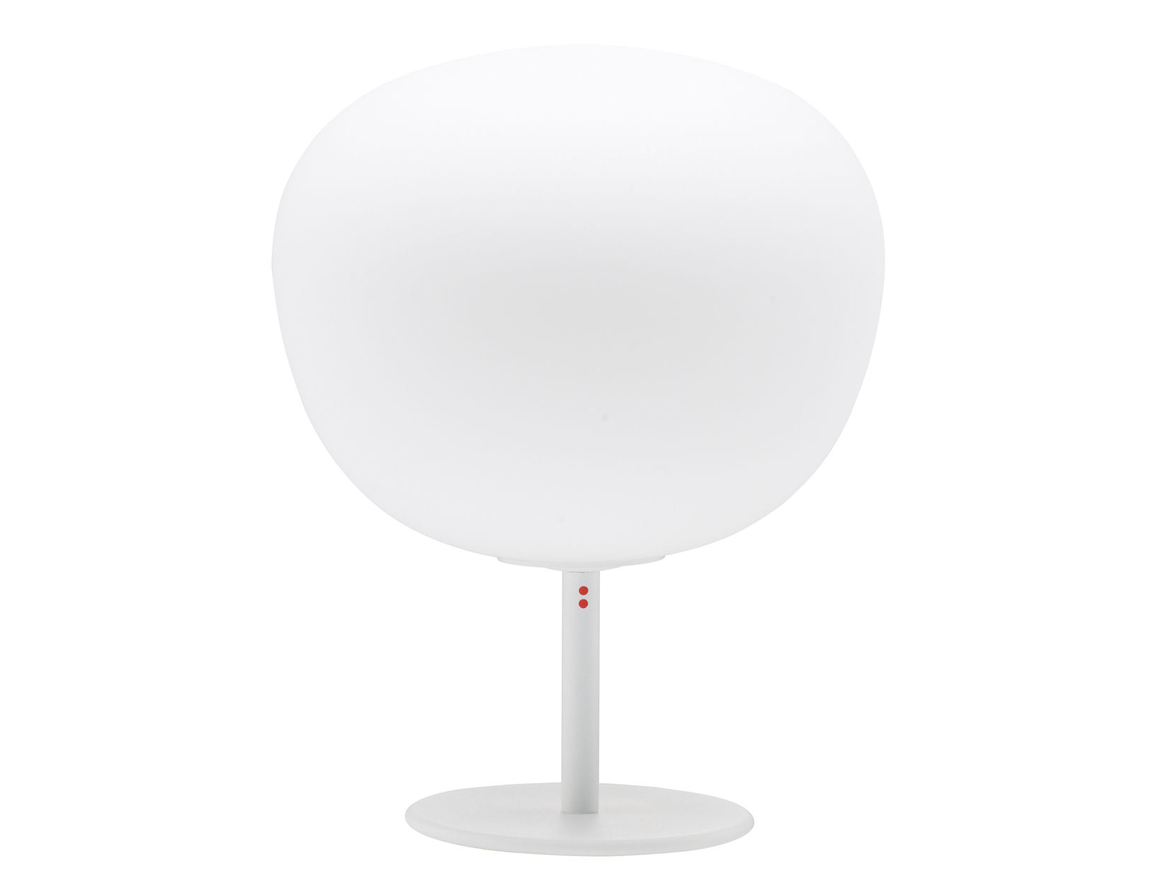 Lighting - Table Lamps - Mochi Table lamp - With leg - Ø 20 x H 26 cm by Fabbian - White - Ø 20 cm - Base - Glass