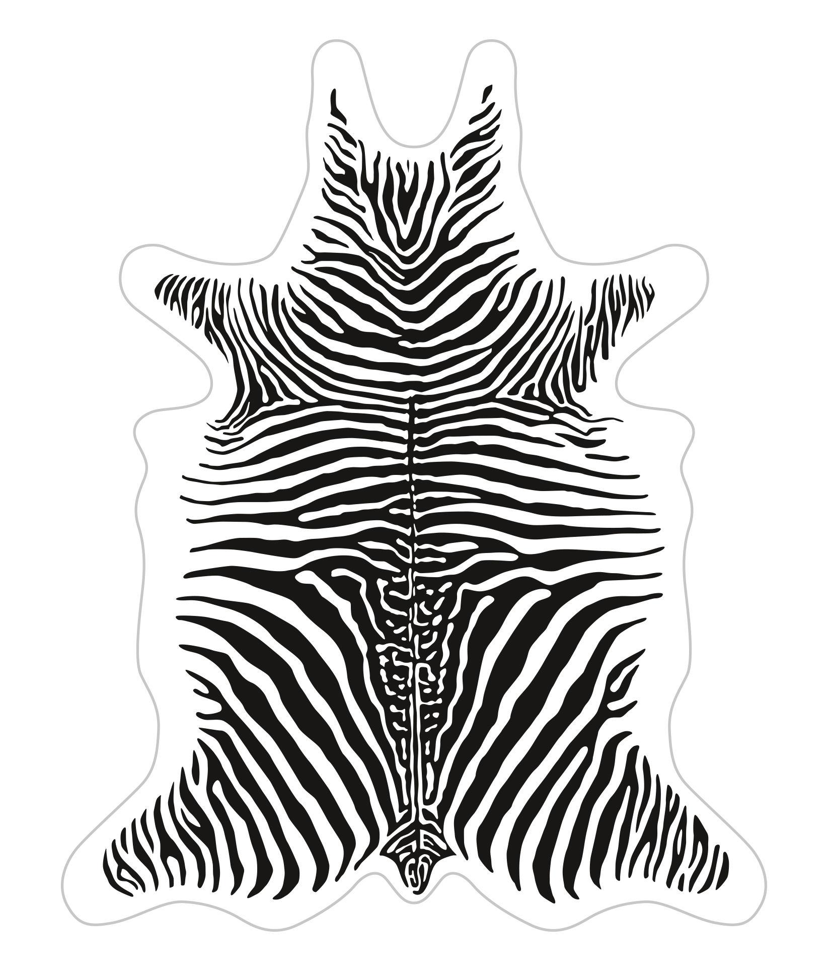 Outdoor - Déco et accessoires - Tapis Zèbre / 148 x 187 cm - Vinyle - PÔDEVACHE - Blanc / Rayures noires - Vinyle
