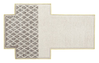 Interni - Tappeti - Tappeto Mangas Space Rhombus - / 250 x 160 cm di Gan - Avorio - Lana vergine