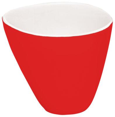 Tischkultur - Tassen und Becher - Bazelaire Teetasse - Sentou Edition - Rot - emaillierte Fayence