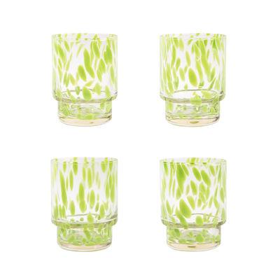 Arts de la table - Verres  - Verre Tortoise / Set de 4 - & klevering - Vert & transparent - Verre soufflé