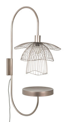 Lighting - Wall Lights - Papillon Wall light - / H 75 cm - Tablette by Forestier - Cuivre rosé - Powder coated steel