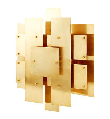 Lighting - Wall Lights - Puzzle Sconce Wall light - Brass - 38 x 48 cm by Jonathan Adler - Brass - Solid brass