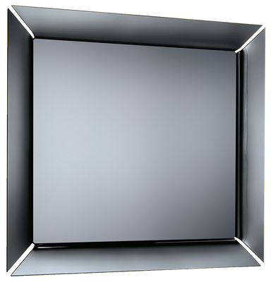 Accessories - High Tech Accessories - Caadre TV Wall mirror by FIAM - Frame : Titanium / Black - Glass
