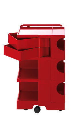 Möbel - Beistell-Möbel - Boby Ablage / H 73 cm - 2 Schubladen - B-LINE - Rot - ABS