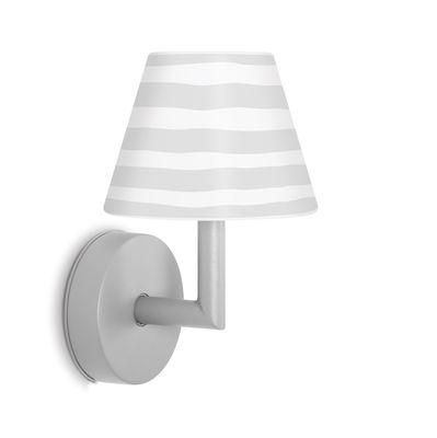 Applique d'extérieur Add the wally LED / Rechargeable - Variateur sensitif - H 22 cm - Fatboy blanc,gris clair en matière plastique