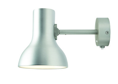 Applique type mini metallic argent anglepoise made in design