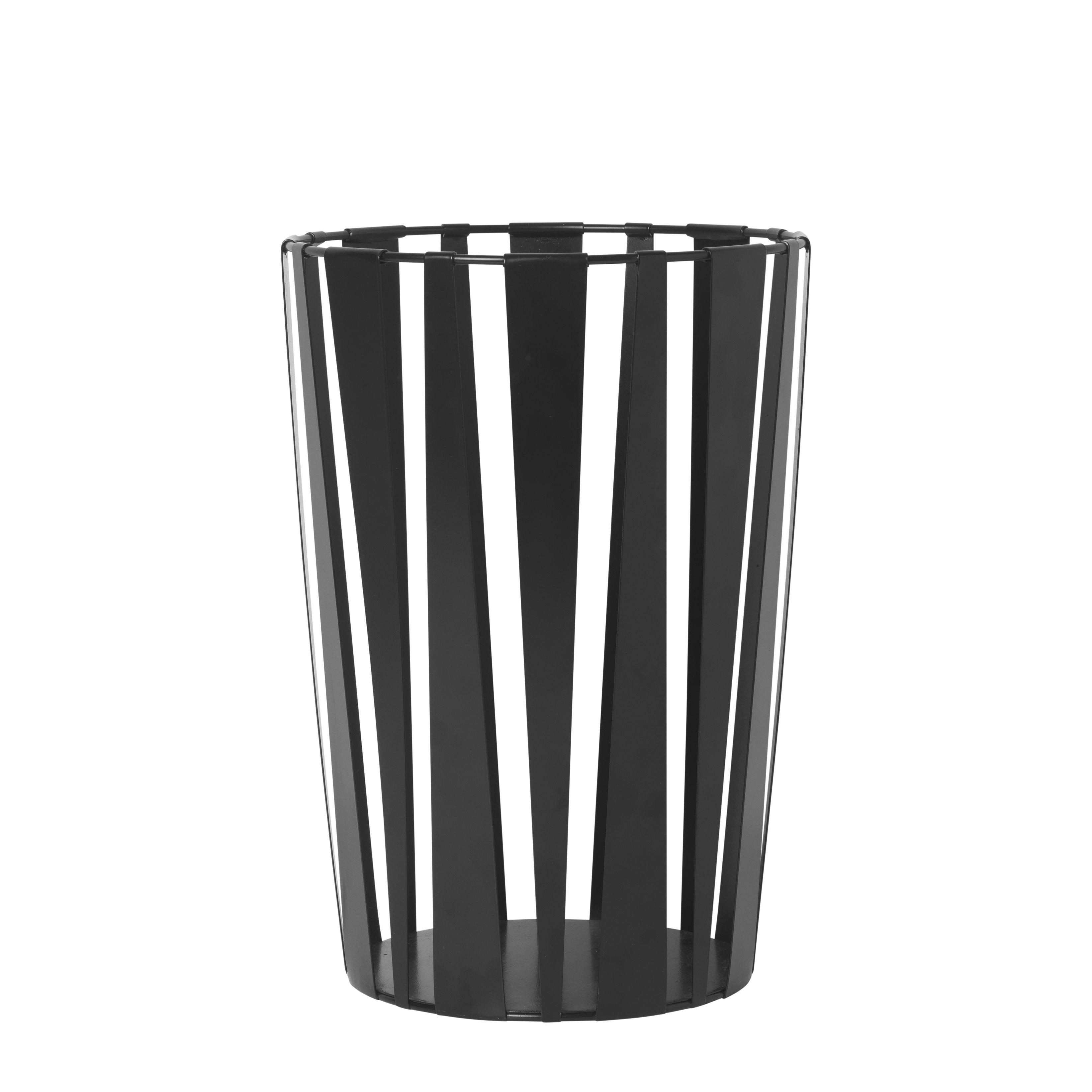 Accessories - Desk & Office Accessories - Rob Basket - / Wastepaper basket - Metal by Ferm Living - Black - Painted metal