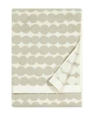 Decoration - Bedding & Bath Towels - Räsymatto Bath towel - / 70 x 150 cm by Marimekko - Räsymatto / White & light grey - Cotton