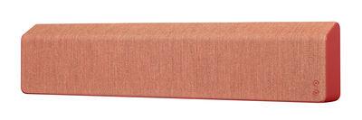 Accessoires - Lautsprecher & Ton - Stockholm Bluetooth-Lautsprecher / L 110 cm - mit Stoffbezug - Vifa - Rot - Aluminium, Kvadrat-Gewebe
