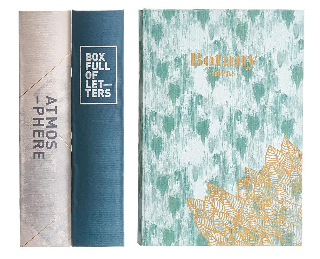 Déco - Boîtes déco - Boîte Storage book / Set 3 boîtes-livres - Tissu - House Doctor - Multicolore - MDF, Tissu