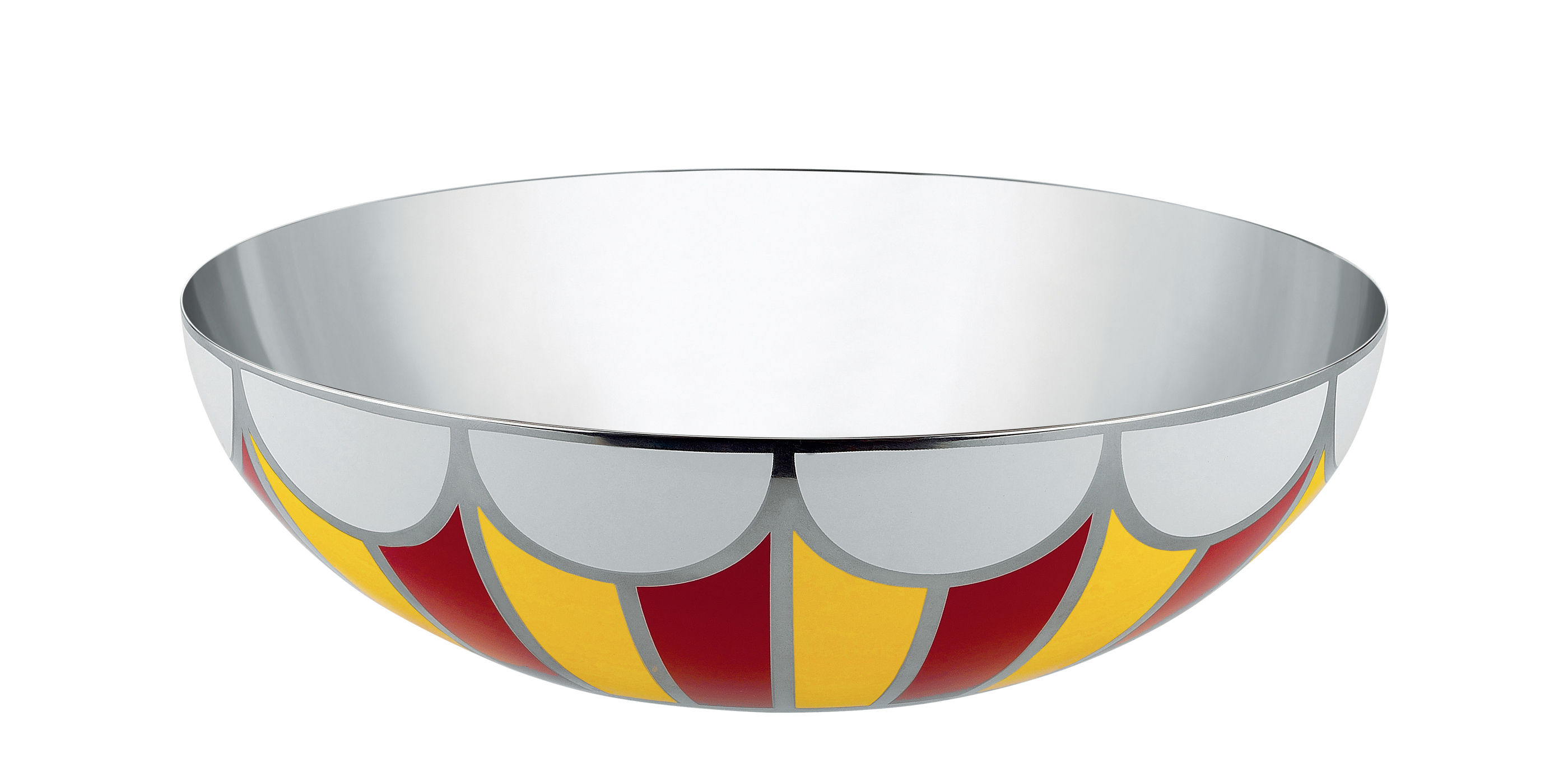 Tableware - Bowls - Circus Bowl - Ø 25 cm by Alessi - Ø 25 cm / Red - Painted stainless steel