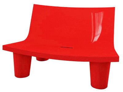 Canapé 2 places Low Lita Love / L 118 cm - Version laquée - Slide laqué rouge en matière plastique