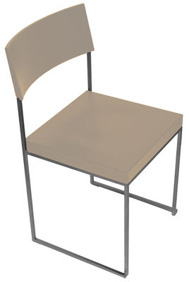 Chaise empilable Cuba / Bois - Lapalma blanc/bois naturel en bois