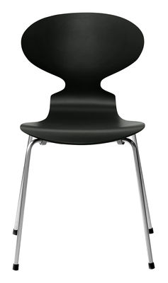 Chaise empilable Fourmi / Bois laqué - Fritz Hansen laqué noir en bois