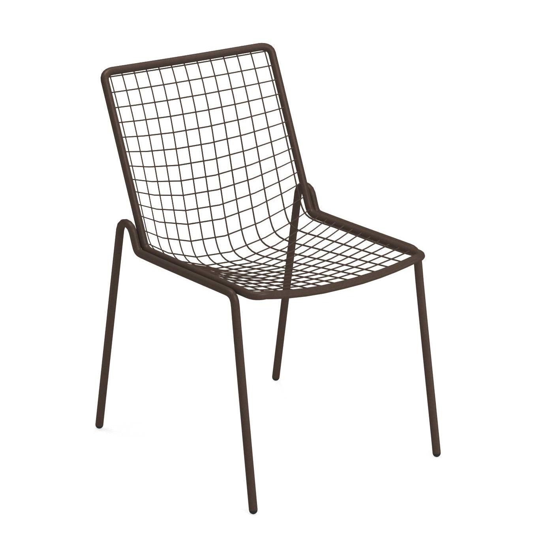 Chaise empilable Rio R50 / Métal - Emu marron/métal en métal