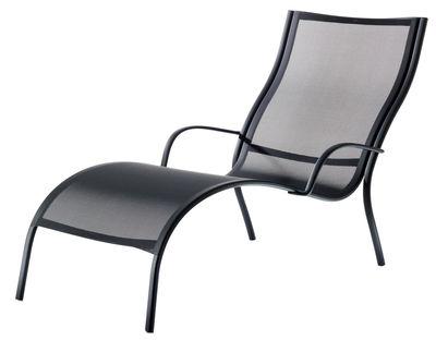Chaise longue Paso Doble Magis noir en tissu
