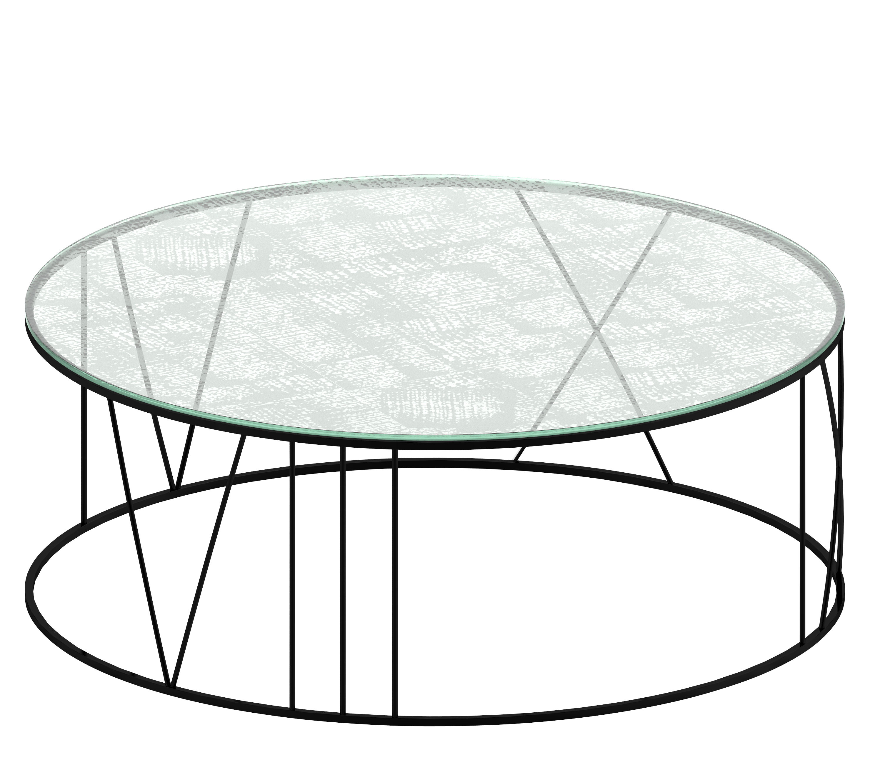 Glass Coffee Tables Under 100: Black Copper / Sandblasted