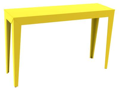 Console Zef / 120 x 35 cm - Matière Grise jaune en métal
