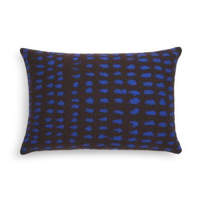 Déco - Coussins - Coussin Dots / 60 x 40 cm - Ethnicraft - Marron / Pois bleus - Plumes de canard, Tissu Oeko-Tex