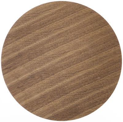 Déco - Corbeilles, centres de table, vide-poches - Couvercle pour corbeille Wire / Medium - Ø 50 - Ferm Living - Chêne fumé - Contreplaqué de chêne fumé