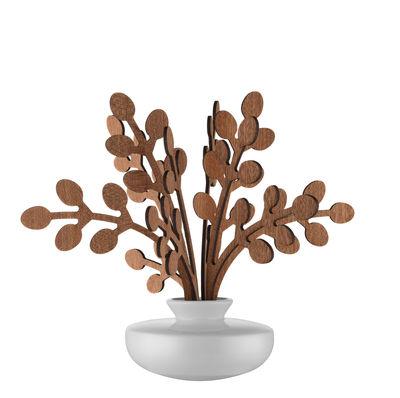 Diffuseur de parfum The Five Seasons / Porcelaine - H 22,5 cm - Alessi blanc,bois naturel en céramique