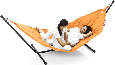 Outdoor - Chaises longues et hamacs - Hamac Headdemock / Tissu polyester - Fatboy - Orange - Acier, Polyester