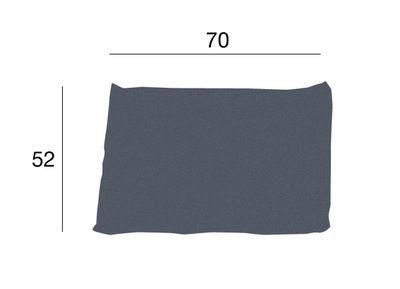 Möbel - Sitzkissen - Kilt Kissen / mit Stoffbezug - Zanotta - Grau - 70 x 52 cm - Gewebe, Polyurhethan