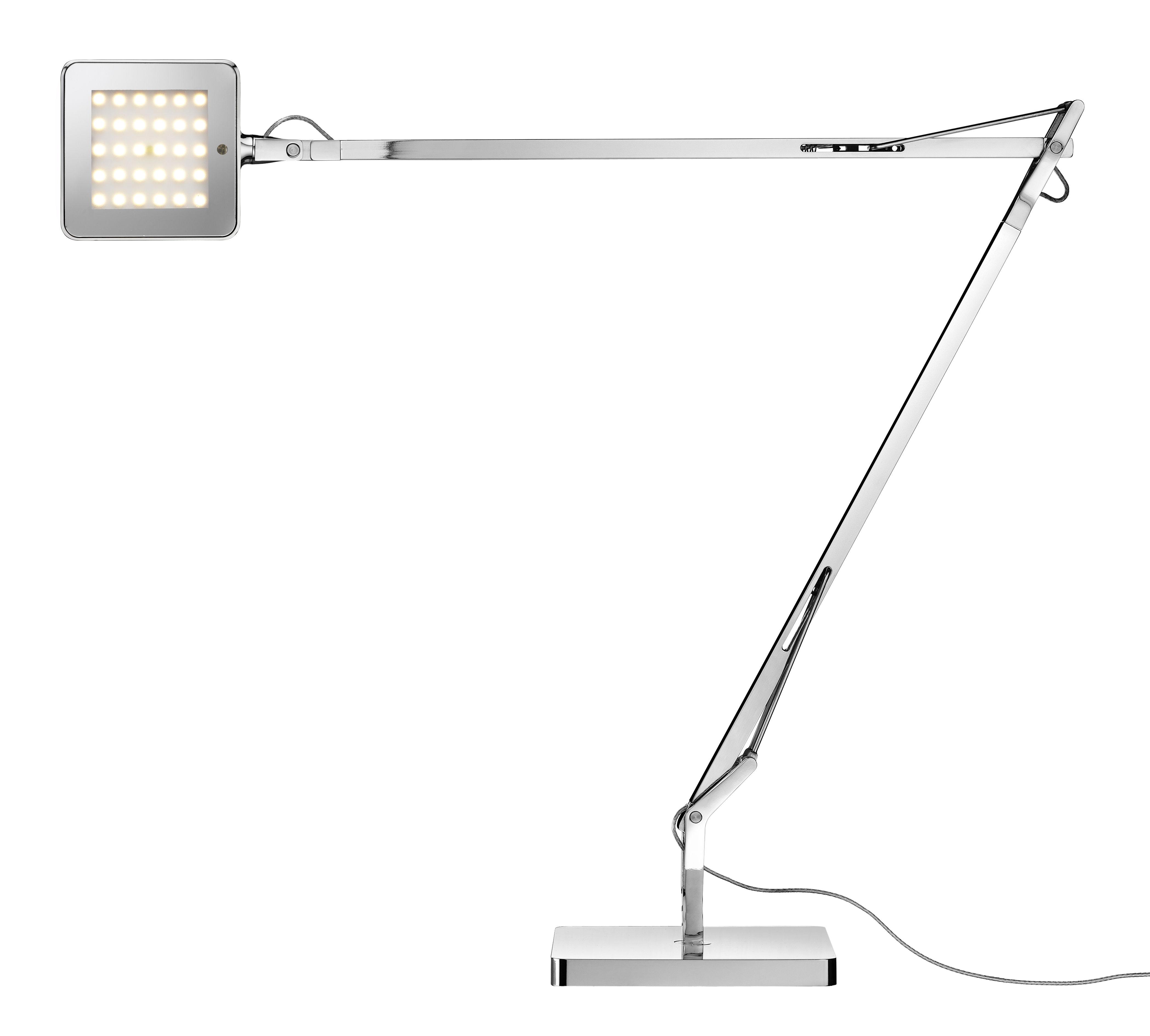 Luminaire - Lampes de table - Lampe de table Kelvin LED Green / Avec économiseur d'énergie - Flos - Chromé - Acier, Aluminium, PMMA