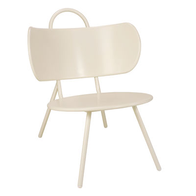 Furniture - Armchairs - Swim Low armchair - / Metal by Bibelo - Beige - Epoxy lacquered steel