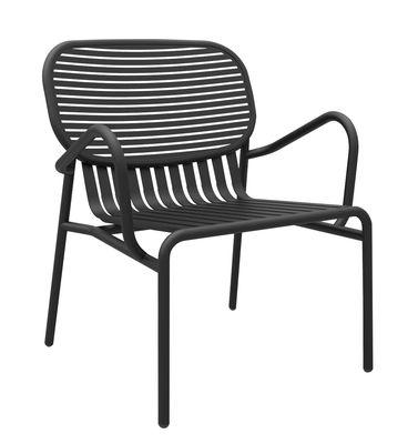 Furniture - Armchairs - Week-end Low armchair - Aluminium by Petite Friture - Black - Powder coated epoxy aluminium
