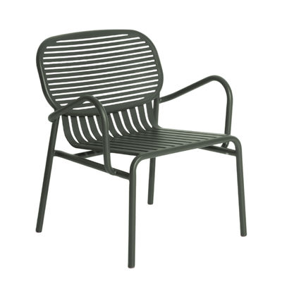 Furniture - Armchairs - Week-End Low armchair - / Stackable - Aluminium by Petite Friture - Bottle green - Powder coated epoxy aluminium