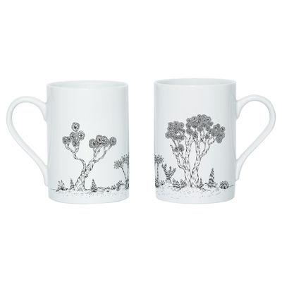 Tableware - Coffee Mugs & Tea Cups - Landscape Mug - Screen printed mug by Domestic - White & black - China