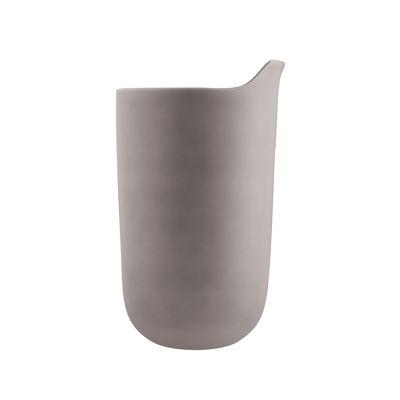 Mug isotherme / Avec couvercle - Céramique / 28 cl - Eva Solo gris en céramique