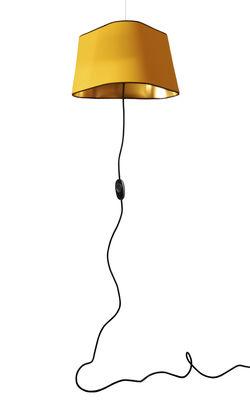 Grand Nuage Pendelleuchte L 43 cm / zum Einstecken in die Steckdose - Designheure - Gelb,Gold lackiert