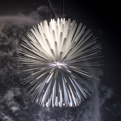 Leuchten - Pendelleuchten - Sun-Light of Love Pendelleuchte / LED - Metall / Ø 65 cm - Foscarini - Weiß - bemalter Stahl, bemaltes Aluminium