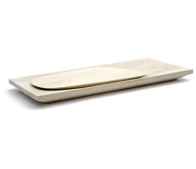 Arts de la table - Plats - Planche à découper Paysages / Set planche + plateau - Y'a pas le feu au lac - Planche à découper - Bois de charme