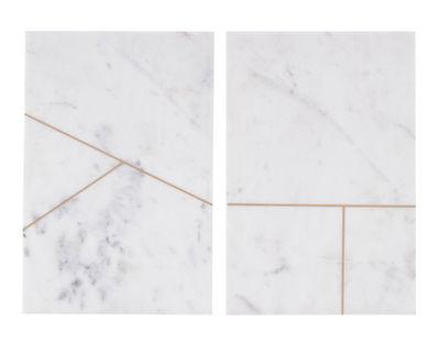 Plateau Board / Marbre - Set de 2 - 20 x 30 cm - House Doctor blanc en pierre